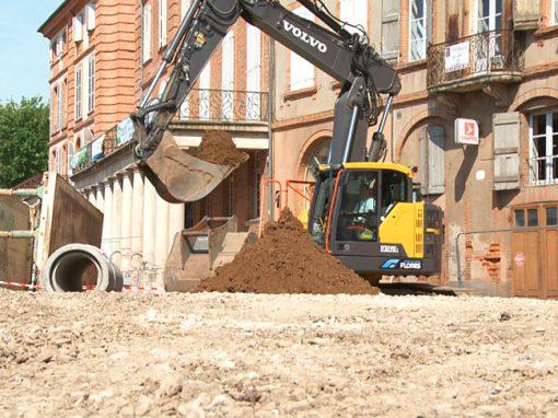 Travaux d'aménagement urbain, Montauban 82